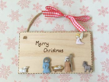 Personalised Christmas Nativity Plaque