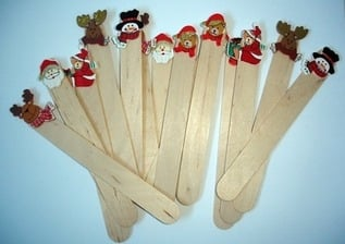 Personalised bookmarks (christmas selection)- bulk price available
