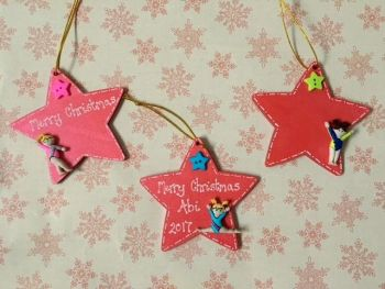Personalised gymnastics christmas decoration