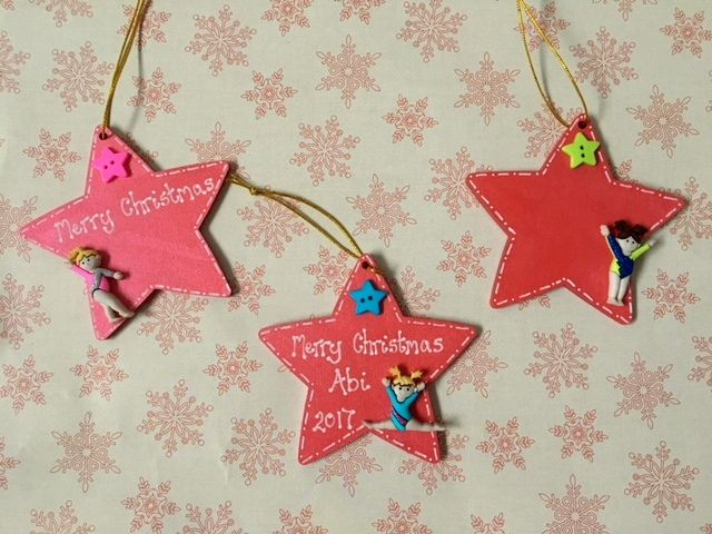 <!-- 00002 -->Personalised gymnastics christmas decoration