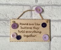 <!-- 0001 -->Mother's Day Plaque - Buttons