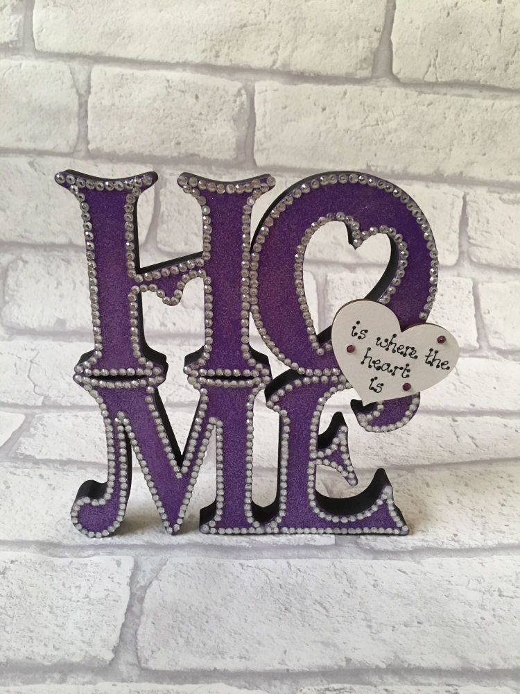 <!-- 0000001 -->Freestanding Home Sign, Home is where the heart is