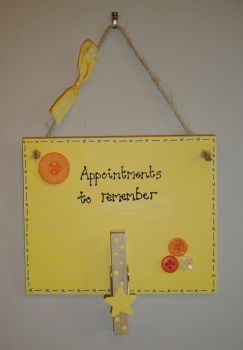 Painted Memory / Appointments plaque