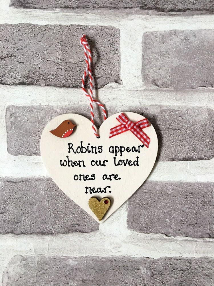 <!-- 0002 -->Heart Robins appear when our loved ones are near decoration