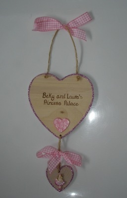 Double Heart plaque