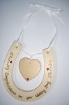 Personalised Wedding Horseshoe & Heart Keepsake
