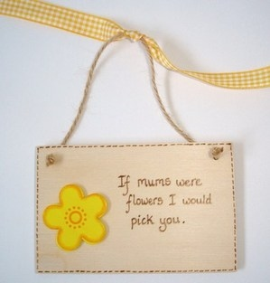 Mother's Day Plaque - Flowers