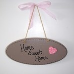 Home Sweet Home painted plaque