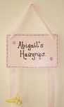 Personalised painted hairgrip holder plaque