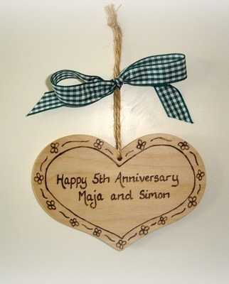 Personalised wooden heart plaque