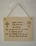 First Communion or Confirmation personalised Gift