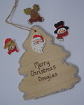 Personalised christmas decoration - tree shaped