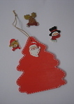 personalised red painted christmas decoration