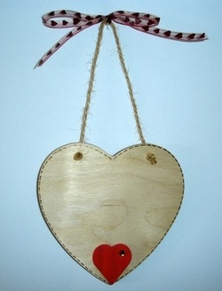 Personalised Valentine's wooden heart plaque - large