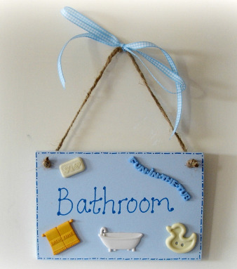 Bathroom Door Plaque 2