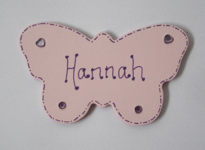 Personalised Painted Butterfly Door Plaque