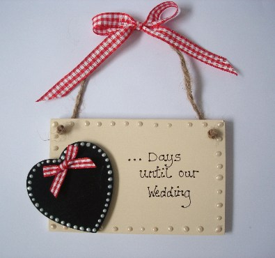 Countdown to our wedding plaque