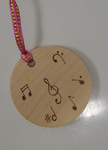 Personalised music bag tag