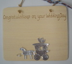Personalised Wedding Day Plaque