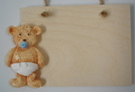 New baby personalised boy or girl teddy plaque gift