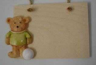 Football teddy plaque - Father's Day or birthday gift