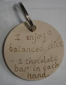 Personalised humour keyring