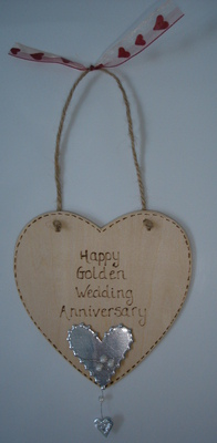 Personalised Golden wedding anniversary gift