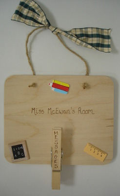 Personalised teacher classroom gift