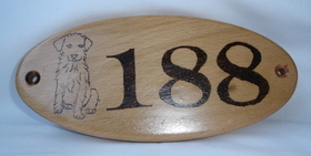 House number/name plaque - Dog