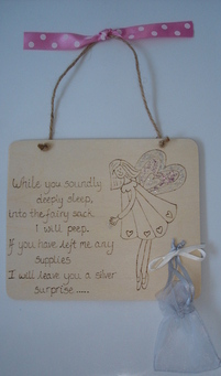 Personalised tooth fairy plaque gift