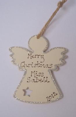 Personalised angel christmas decoration