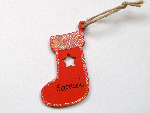 <!-- 011 --> Personalised christmas stocking decoration