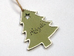Personalised painted christmas tree decoration