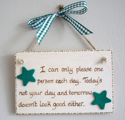 Humour Plaque - I can only please one person each day