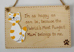 Mum  Cat Plaque
