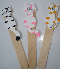 Personalised cat bookmarks