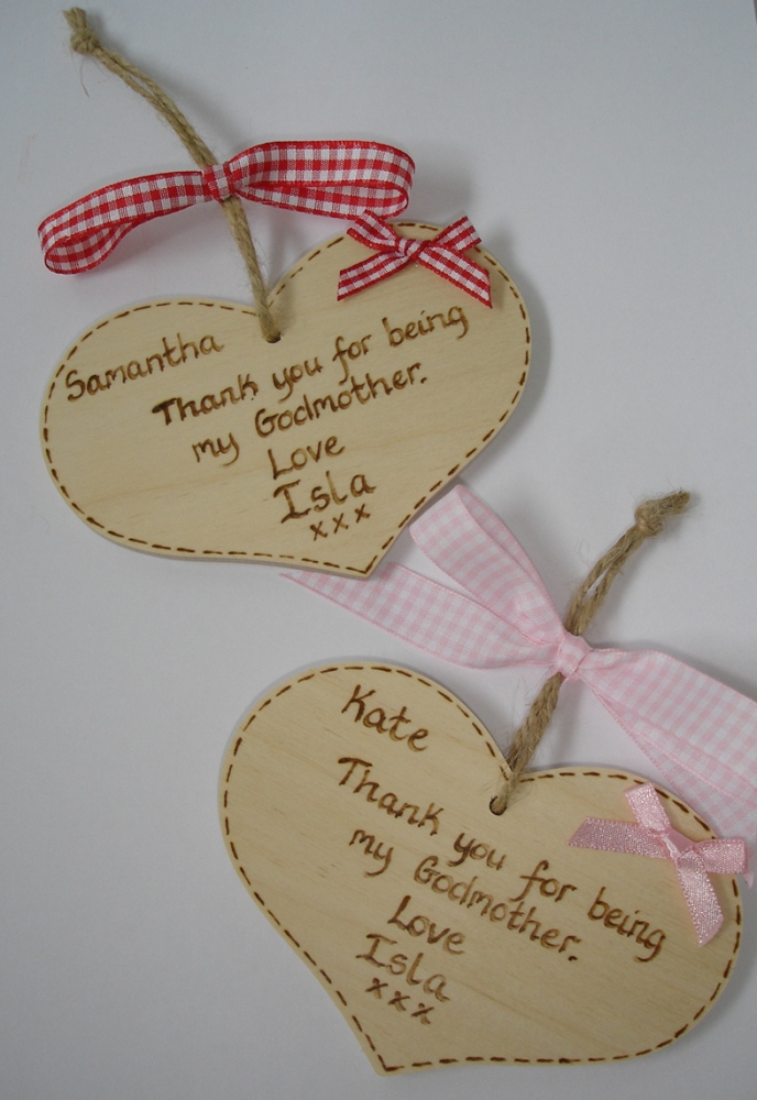 Personalised Godmother / Godfather thank you gift