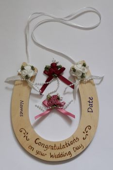 Deluxe Personalised Wedding Horseshoe Keepsake