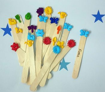 End of year pupil gifts: Personalised bookmarks  (garden theme)