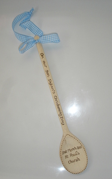 Personalised Christening  wooden spoon gift
