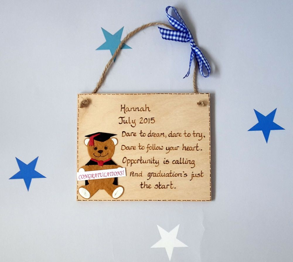 Personalised Graduation Keepsake Plaque Gift 2