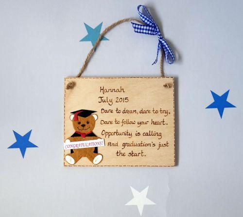 Personalised Graduation Keepsake Plaque Gift 2