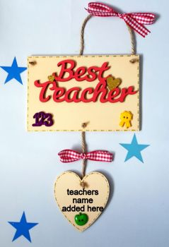 Personalised best teacher gift