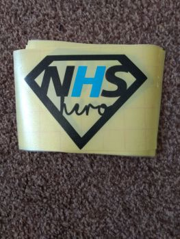 NHS Blue H Decal