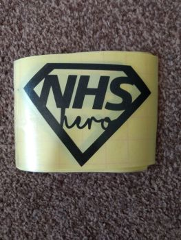 NHS Plain black decal