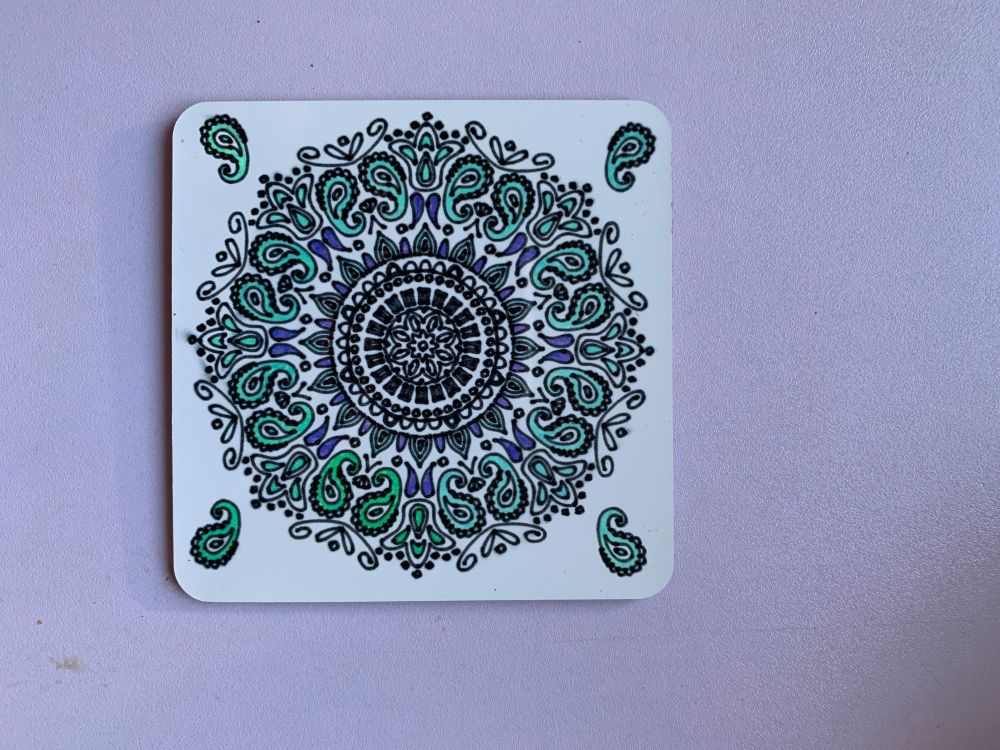 Mandala Sublimation Coasters