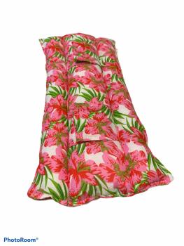 Flower seat belt cover