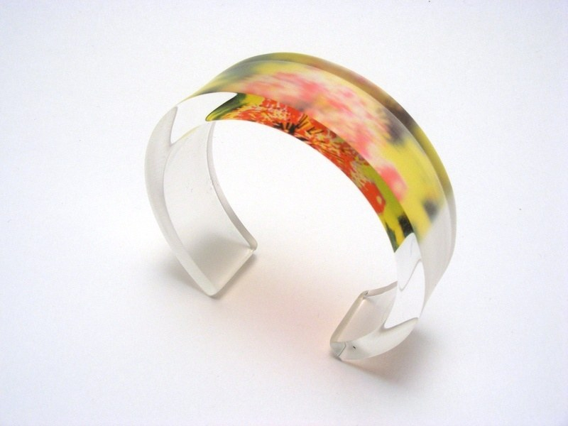 Alliums Green - Pink 6x20mm Bangle