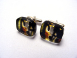 6mm Cufflinks Stained Glass