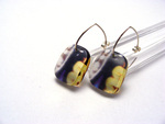 6mm Earrings Stained Glass Large